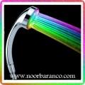 نورپردازی حمام با سردوش هفت رنگ ال ای دی