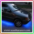 نورپردازی زیر ماشین با نور آبی آسمانی