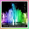 نورپردازی آبنما با فواره های رنگی