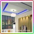 نورپردازی سقف با نور آبی و دیوارها با نور آفتابی