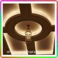 نورپردازی سقف لابی هتل با نور مهتابی