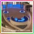 نورپردازی تالار و سالن با رنگ آبی