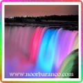 نورپردازی آبنما آبشاری هفت رنگ