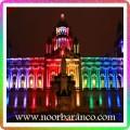نورپردازی نمای ساختمان با ال ای دی های هفت رنگ