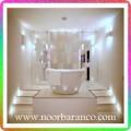 نورپردازی حمام با دکوراسیون شیک