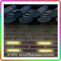 نورپردازی نمای ساختمان - دیوار آجری